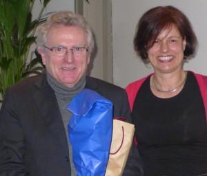 Stefanie mit Prof. Birbaumer